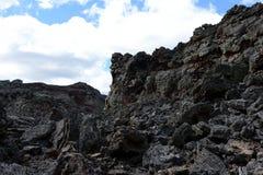 Volcán extinto el domicilio del diablo en el parque nacional Pali Aike en el sur de Chile foto de archivo