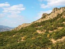Volcán extinto Kara Dag en Crimea Imagen de archivo