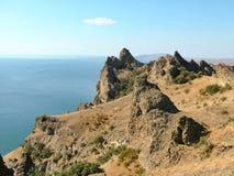 Volcán extinto Karadag Imagen de archivo