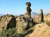 Volcán extinto Karadag en Crimea Fotografía de archivo libre de regalías