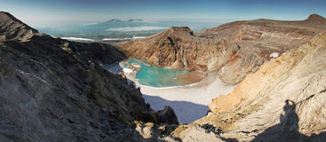 Volcán Goreli imagen de archivo libre de regalías