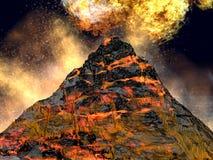 Volcán joven Fotos de archivo