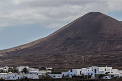 Volcán near guatiza. The town of guatiza is located at foot of the volcan Royalty Free Stock Photos