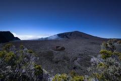 Volcán piton de la fournaise Imagenes de archivo