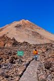 Volcán Teide en la isla de Tenerife - España amarilla Fotografía de archivo libre de regalías
