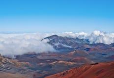 Volcán y cráter Maui Hawaii de Haleakala Imagenes de archivo