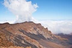 Volcán y cráter Maui Hawaii de Haleakala Foto de archivo
