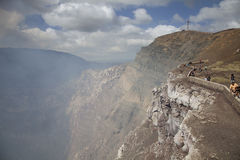 Volcán y viaje Imagen de archivo libre de regalías