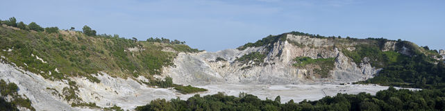 volcan的Solfara的鸟瞰图 库存图片