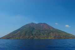 volcan西西里岛的strombolis 库存照片