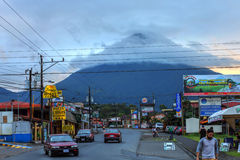 Volcan阿雷纳尔, La福尔图纳,哥斯达黎加 免版税图库摄影