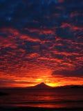 volcan黎明的osorno 库存图片
