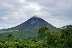 Volcan. Landscape of the Arenal Volcan in Costa Rica Royalty Free Stock Image