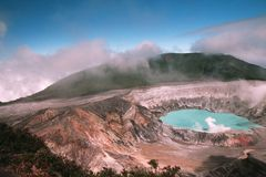 Poas Volcano in Costa Rica Royalty Free Stock Image