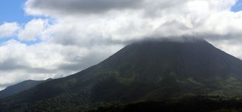 Arenal jungle volcano in Costa Rica Central America volcan active. Volcan activo Arenal volcano in Costa Rica Central America volcan active Stock Image