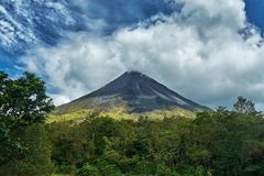 Volcan Arenal At La Fortuna discrict in costa rica stock image
