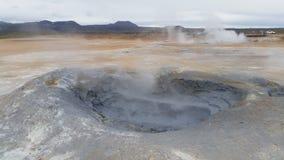 Volcan chaud de boue de l'Islande Images libres de droits
