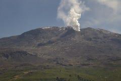 Volcan Copahue, Argentina. El Volcán Copahue ubicado en cercanías de las localidades de Caviahue y Copahue en la provincia de Neuquén, Argentina Royalty Free Stock Photo