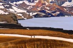 Volcan d'Askja - cratère de Viti images libres de droits
