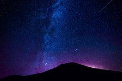 Volcan d'EL Teide la nuit Photographie stock libre de droits
