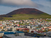 Volcan d'Eldfell images libres de droits