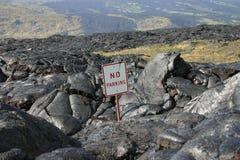 Volcan d'Hawaï d'écoulement de lave Image libre de droits