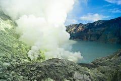 Volcan d'Ijan Photos libres de droits