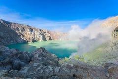 Volcan d'Ijen Images libres de droits