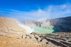 Volcan d'Ijen Photo libre de droits