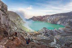 Volcan d'Ijen Photos stock