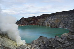 Volcan d'Ijen Java, Indonésie Photographie stock libre de droits