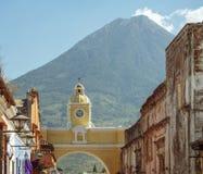 Volcan De Agua Antigua Guatemala Arkivbild