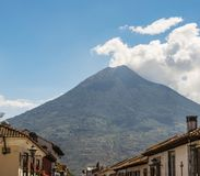 Volcano Agua Guatemala royalty free stock images