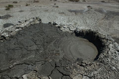 Volcan de boue en Azerbaïdjan Photographie stock