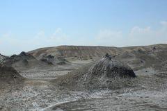 Volcan de boue en Azerbaïdjan Photo stock