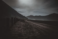 Volcan de Bromo de bâti pendant l'aube Photos libres de droits