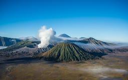 Volcan de Bromo, parc national de Tengger Semeru, Java-Orientale, Indonésie Images stock