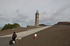 Volcan de Capelinhos Photos stock