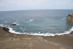 Volcan de Capelinhos Photos libres de droits