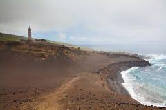 Volcan de Capelinhos sur l'île de Faial, Açores Images libres de droits
