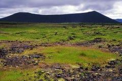 Volcan de Hverfjall, Islande Photos libres de droits