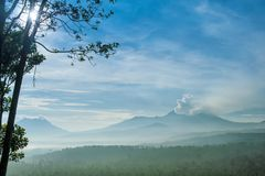 Volcan de Kawah Ijen, Indonésie Image libre de droits