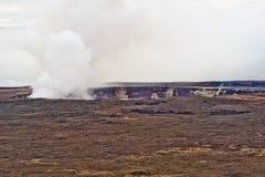 Volcan de Kilauea sur la grande île d'Hawaï Image libre de droits