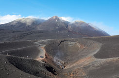 Volcan de l'Etna de support dans l'action Images stock