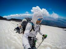Volcan de l'Etna de support dans l'action l'Italie, Sicilia Photos libres de droits