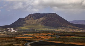 Volcan de la Corona in Lanzarote Royalty Free Stock Photo
