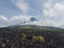 Volcan de Mayon image libre de droits
