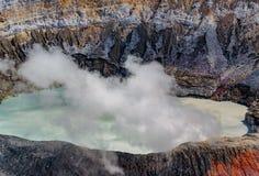 Volcan de Poas, Costa Rica Photos stock
