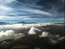 Volcan de Popocatepetl près de Mexico image stock