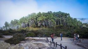 Volcan de Taupo sur l'île du nord au Nouvelle-Zélande Image stock